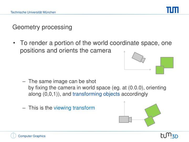 Geometry processing