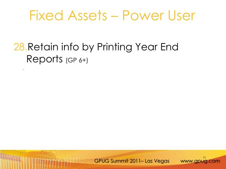Retain info by Printing Year End