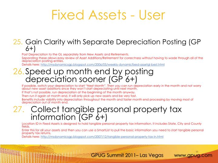 Gain Clarity with Separate Depreciation