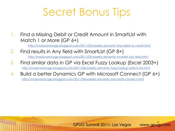Find a Missing Debit or Credit Amount in SmartList with Match 1 or More (GP 6+)
