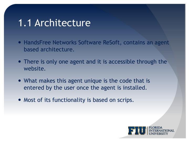 1.1 Architecture