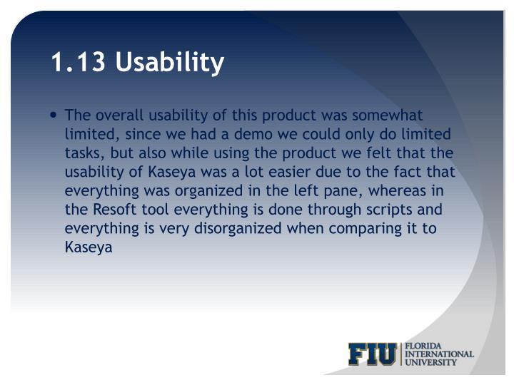 1.13 Usability