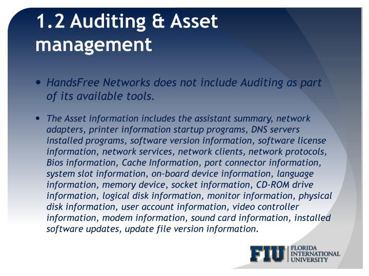 1.2 Auditing & Asset management