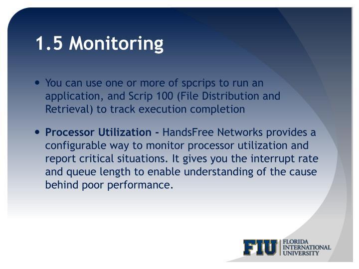 1.5 Monitoring