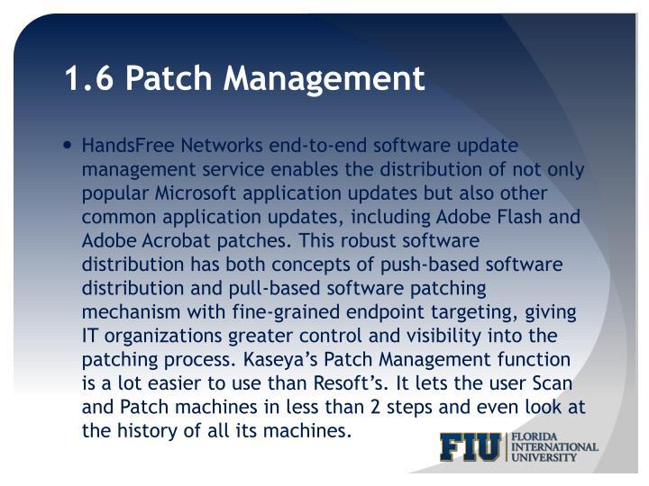 1.6 Patch Management