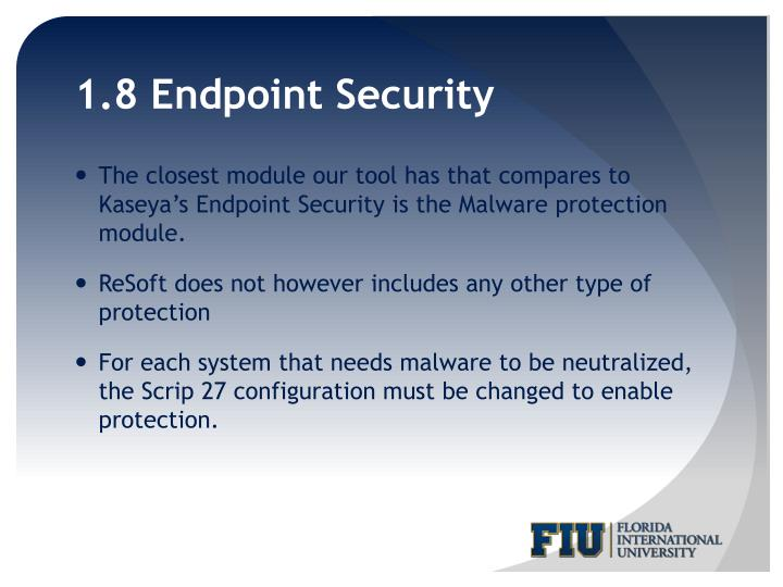 1.8 Endpoint Security