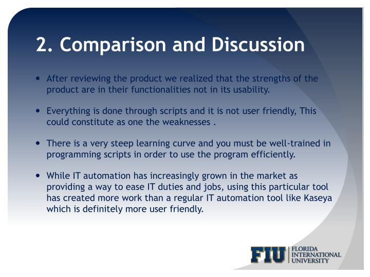 2. Comparison and Discussion