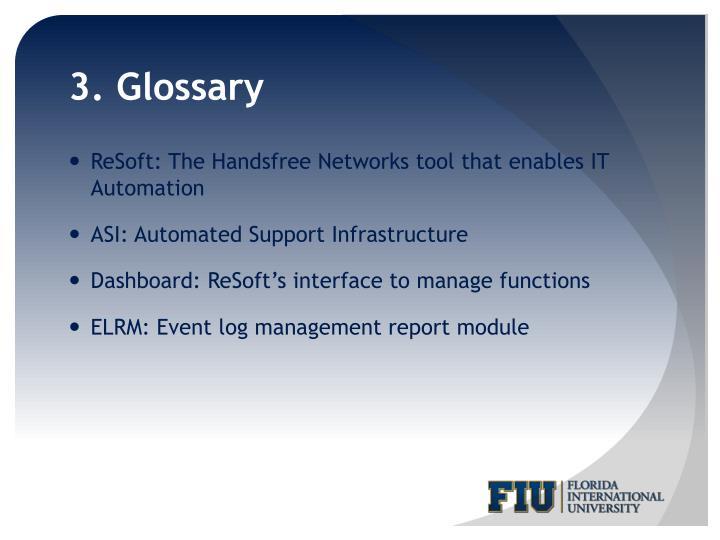 3. Glossary