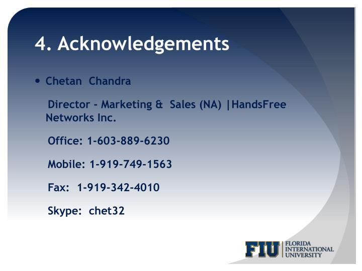 4. Acknowledgements