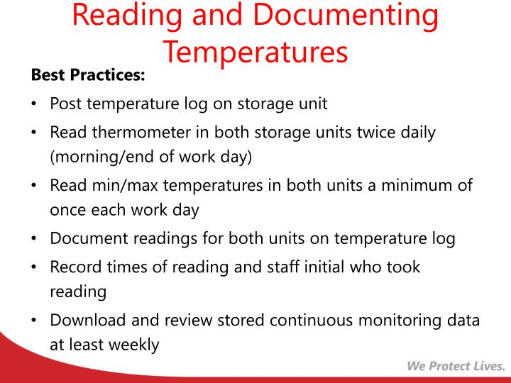 Reading and Documenting Temperatures