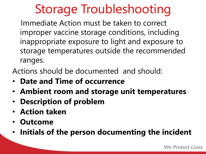Storage Troubleshooting