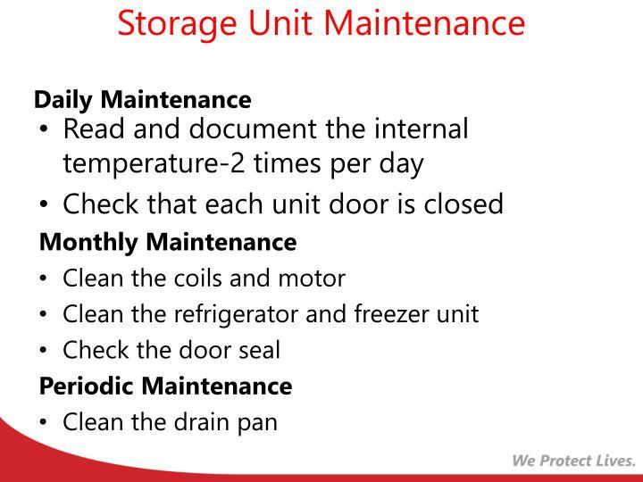 Storage Unit Maintenance