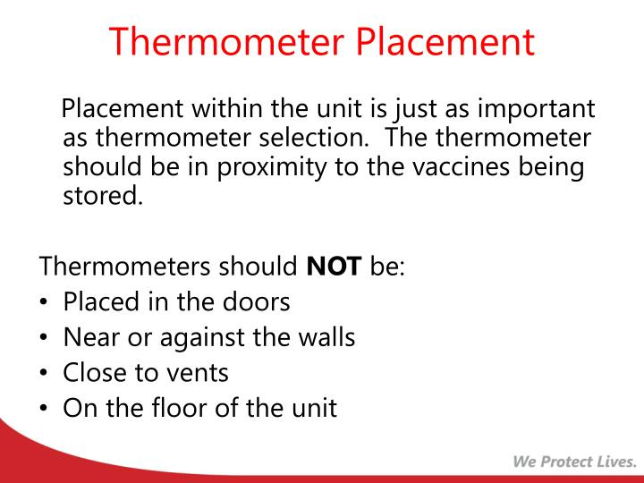 Thermometer Placement
