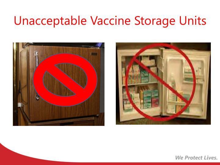Unacceptable Vaccine Storage Units