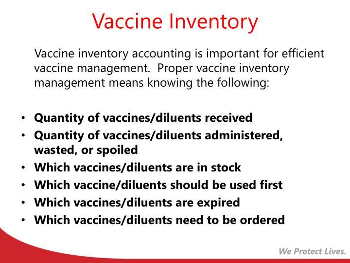 Vaccine Inventory