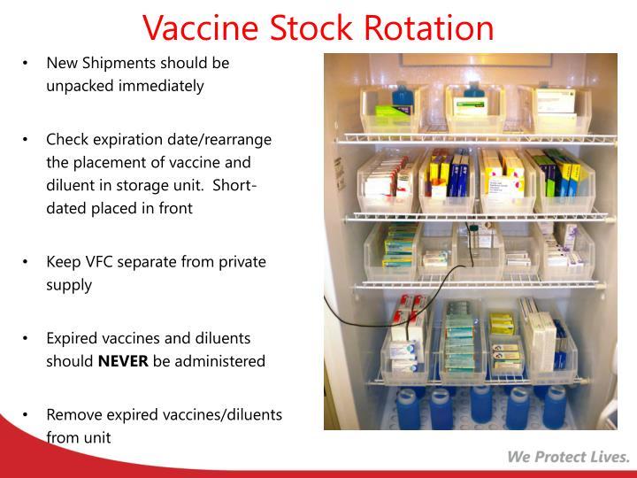Vaccine Stock Rotation