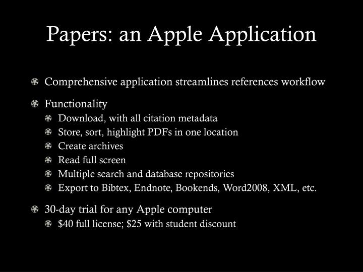 Papers: an Apple Application