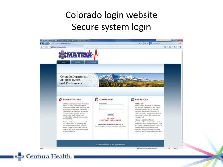 Colorado login website