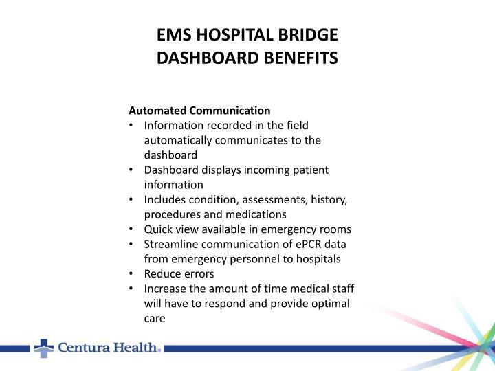 EMS HOSPITAL BRIDGE