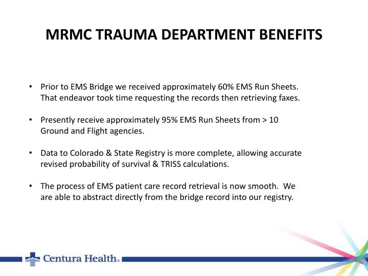 MRMC TRAUMA DEPARTMENT