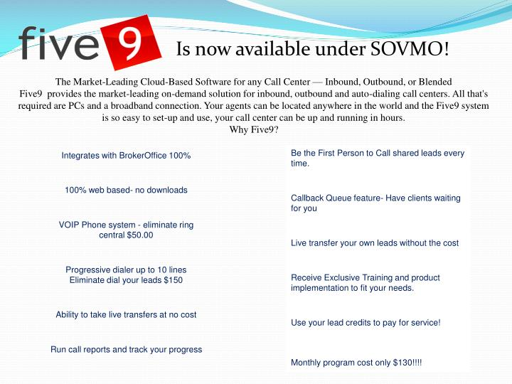 Is now available under SOVMO!
