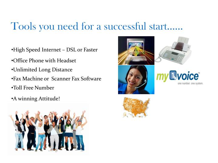 Tools you need for a successful start……