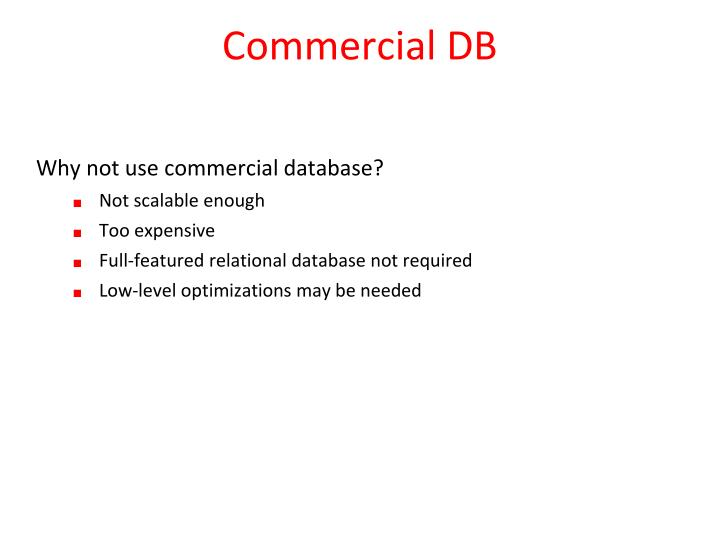 Commercial DB