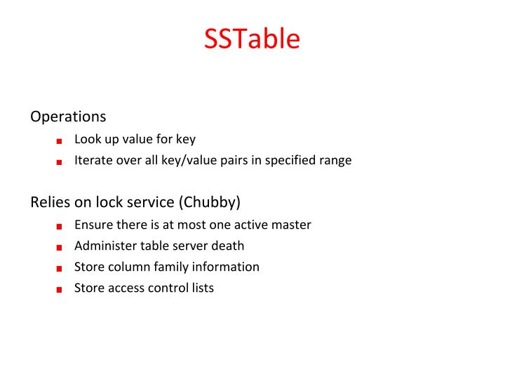 SSTable