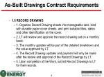 as built drawings contract requirements1