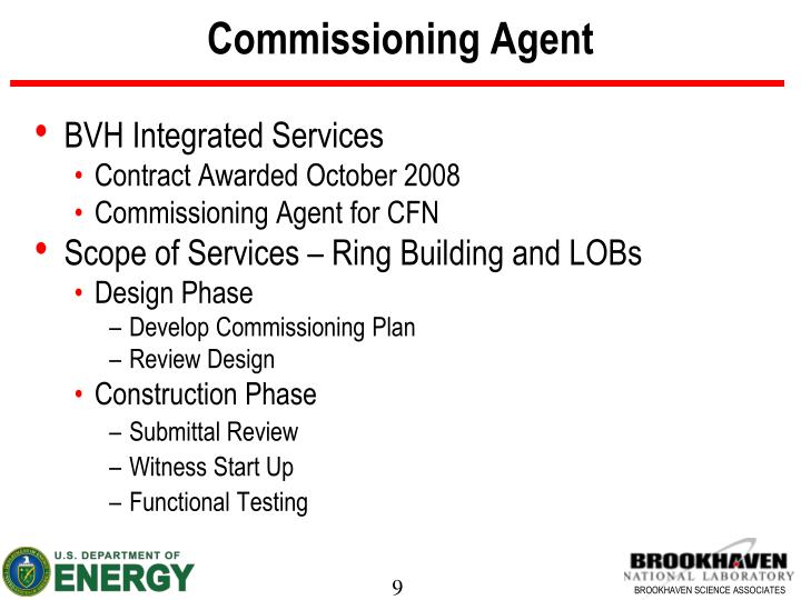 Commissioning Agent