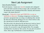 next lab assignment10