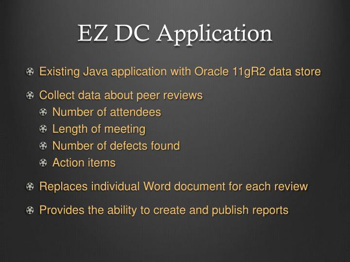 Ez dc application