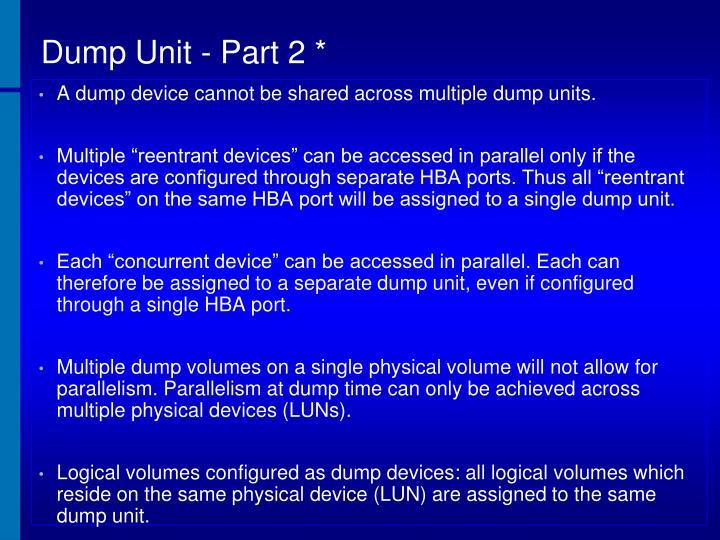 Dump Unit - Part 2 *