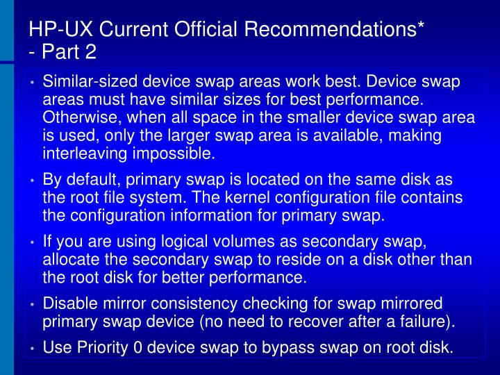 HP-UX Current Official Recommendations*  - Part 2