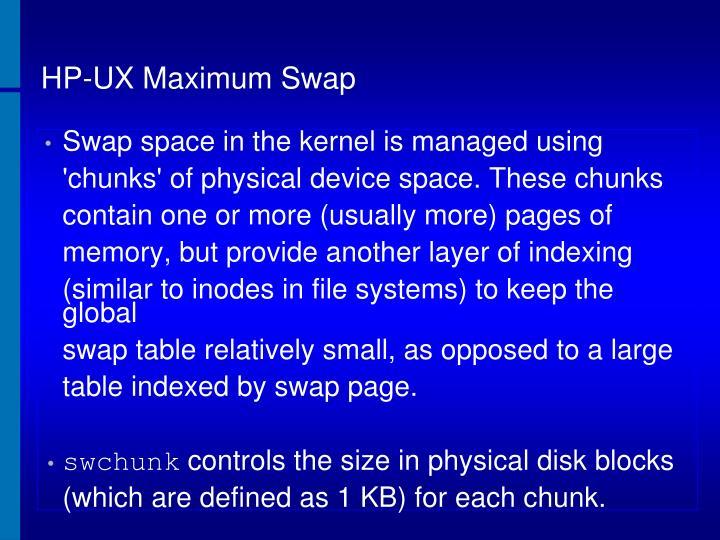 HP-UX Maximum Swap