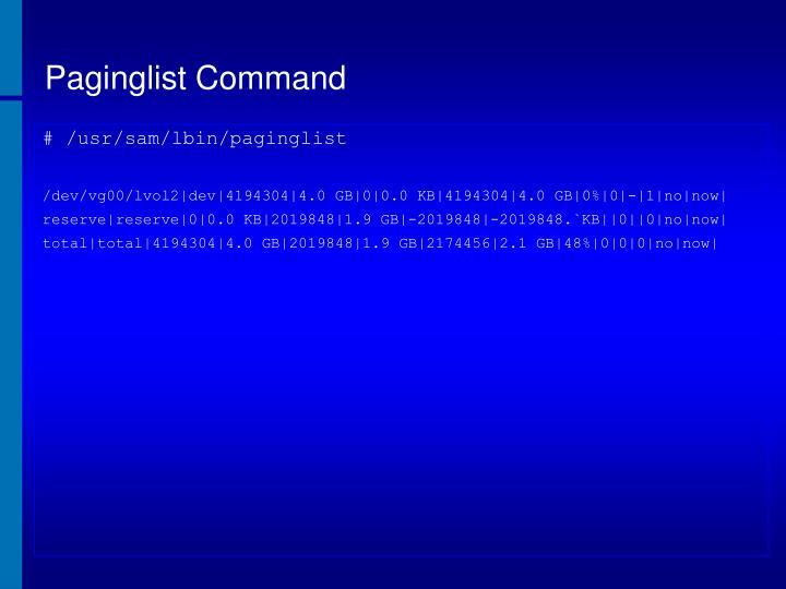 Paginglist Command