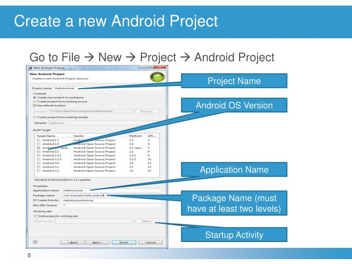 Create a new Android Project