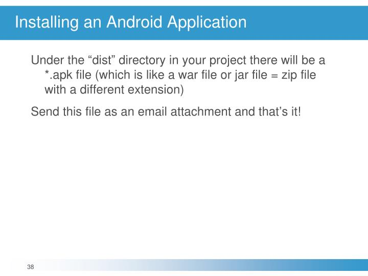 Installing an Android Application