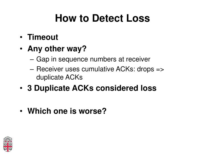 How to Detect Loss