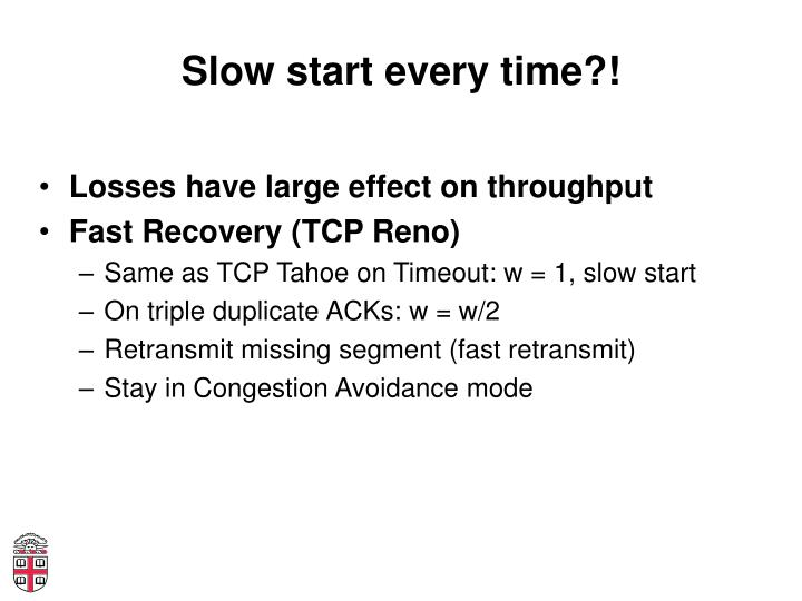 Slow start every time?!