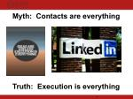 myth contacts are everything truth execution is everything