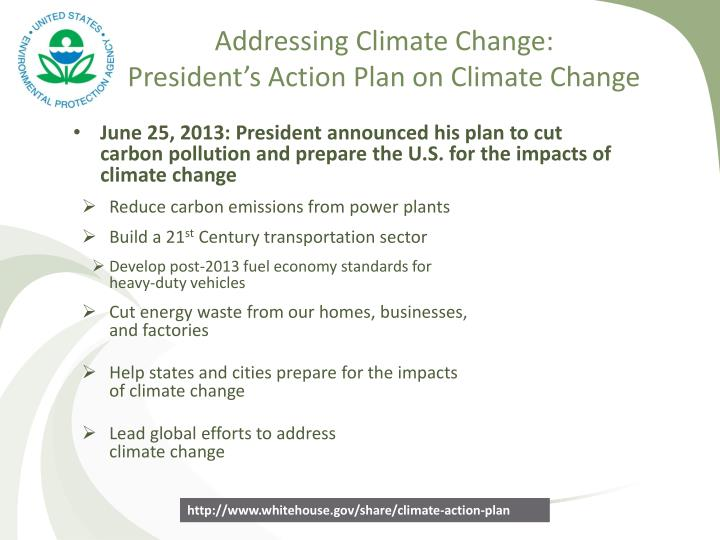 Addressing Climate Change: