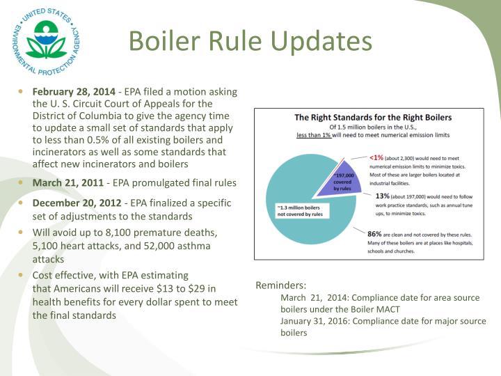 Boiler Rule Updates