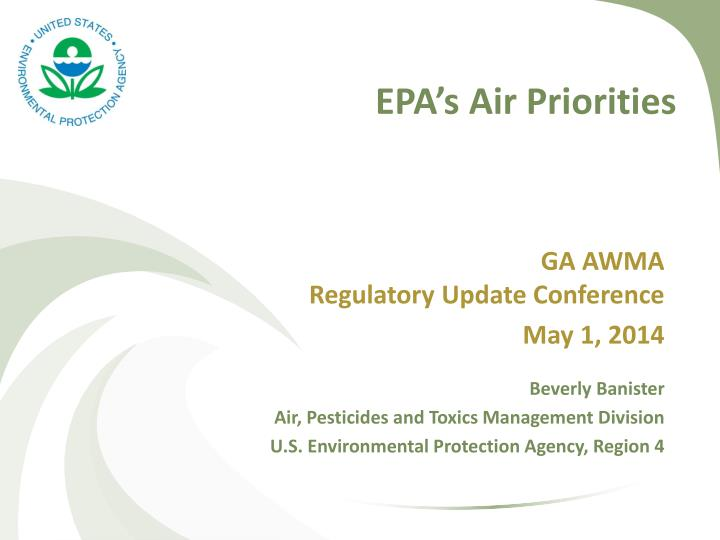 Epa s air priorities
