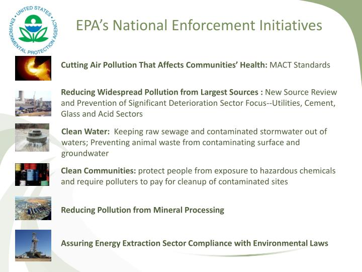 EPA's National Enforcement Initiatives