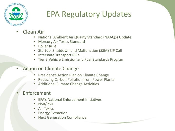 EPA Regulatory Updates