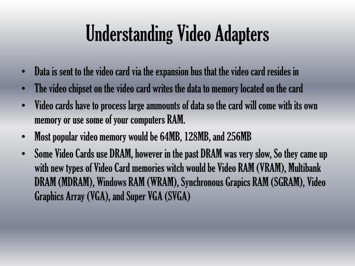 Understanding Video Adapters
