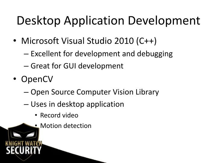Desktop Application Development