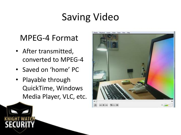Saving Video