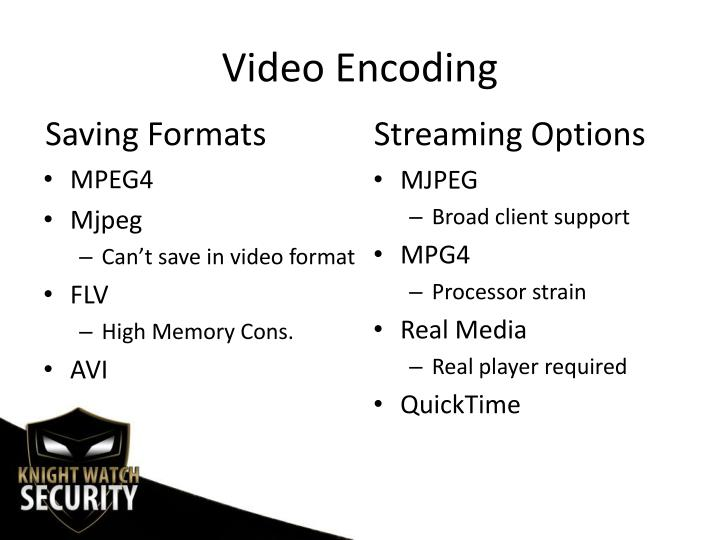 Video Encoding